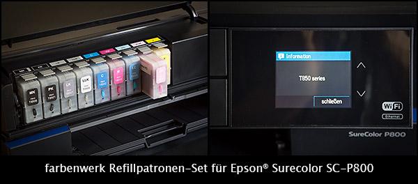 farbenwerk Refillpatronen Epson Surecolor SC-P800